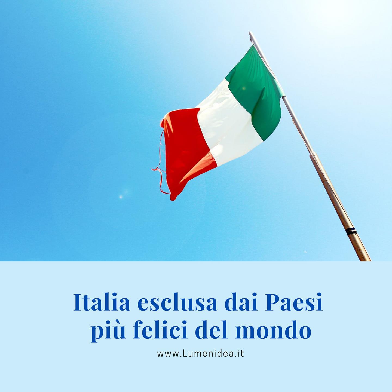 Italia esclusa dai Paesi più felici del mondo